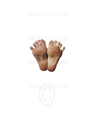 "The Punctuation/Symbol ""Feet"" from the Naked Alphabet."