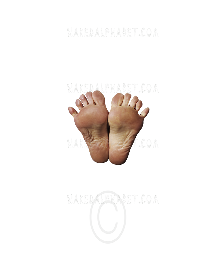 """The Punctuation/Symbol """"Feet"""" from the Naked Alphabet."""