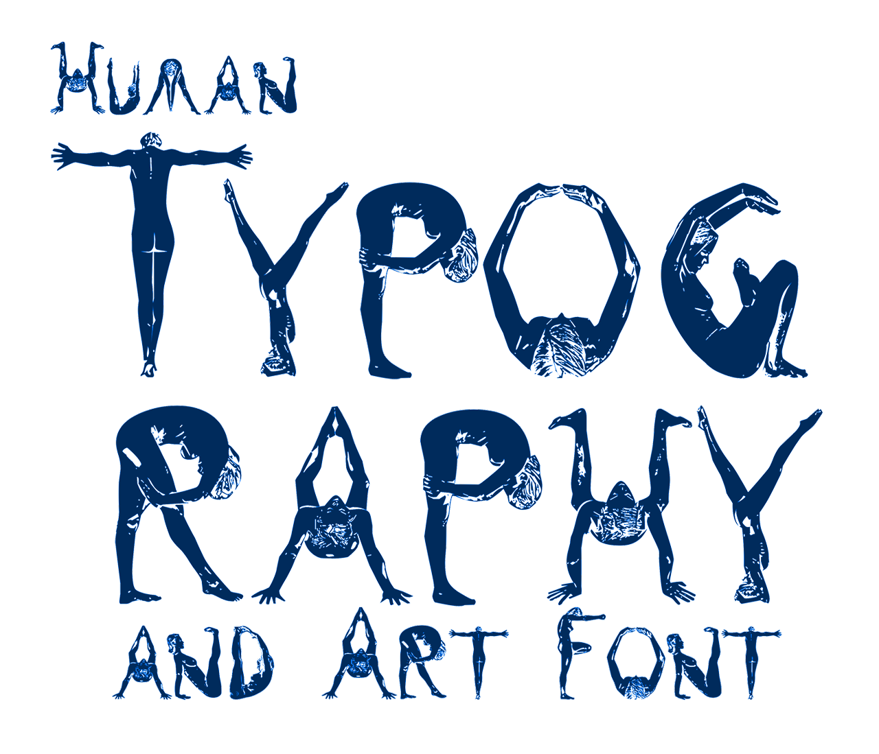 Human Typography and Art Font